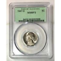 1947 D Jefferson Nickel PCGS MS66 FS  ***Rev. Tye's Stache*** #599673