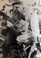 ELVIS PRESLEY On Harley Davidson 5x7 ORIGINAL PHOTO OLD KODAK