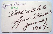LYNN DAVIES 1964 OLYMPIC LONG JUMP GOLD MEDAL WINNER ORIGINAL INK AUTOGRAPH