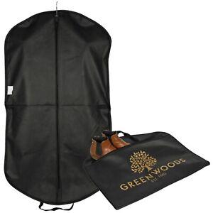 Black Quality Strong Suit Cover Clothes Dress Garment Carrier Travel Bag Zipper