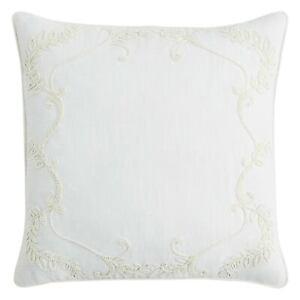 Sferra Cressia Handcrafted Decorative Pillow Ivory 20 x 20