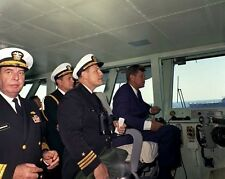 President John F. Kennedy on the bridge of the USS Enterprise New 8x10 Photo