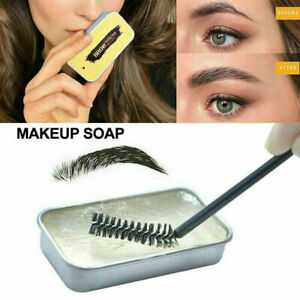 3D Feather Brows Makeup Soap Long Lasting Eyebrow Gel Natural Tint Fixed & Brush