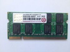 2GB GO TRANSCEND RAM DDR2 PC2 6400S 800Mhz SODIMM 200pin 558258-0097 LAPTOP