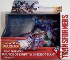 "DRIFT & DINOBOT SLUG Transformers Age of Extinction Dino Sparkers 7"" Figure 2014"