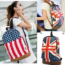 UK England Hot Canvas Flag Punk BackPack Shoulder GYM Bag Handbag Duffle School