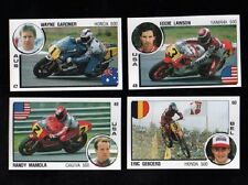 1987-88 Panini-for-Italy Motorcycle Racing card set-Randy Mamola~Anton Mang~++++