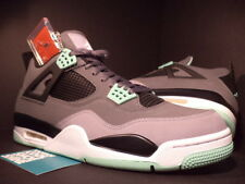 Nike Air Jordan IV 4 Retro CEMENT GREY WHITE BLACK GREEN GLOW 308497-033 NEW 13