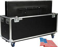 "ATA Kent Custom Dual Two 55"" LCD LED Plasma TV Flat Screen Case Road Heavy Duty"