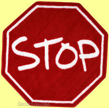 "3x3  Octagon Rug  Stop Sign Design  Street Educational Red 39""x39"" Oct"