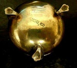 Vintage Silver Mustard pot - Hallmarked S&B ENGLISH