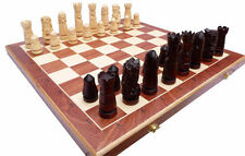Schach Edles Schachspiel CASTLE LARGE Handgeschnitzt 60 x 60 cm KH 120 mm Holz