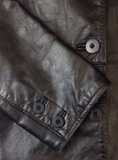 GAP 100% LEATHER 4 BUTTON DOWN LINED JACKET WOMENS SMALL BLACK
