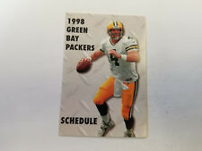 Green Bay Packers 1998 NFL Football Pocket Schedule - Citgo