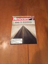 Newsweek Magazine Road to Recession February 4 2008 Bill Clinton Goes to War