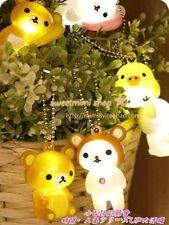 Rilakkuma Kawaii Carino illuminare KEY CHAIN RING JAPAN CHINA RARA raccogliere