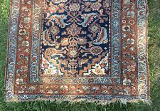 Antique Wool Middle East Malayer Malaier Runner Carpet Circa 1900 Restoration