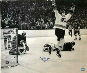 Philadelphia Flyers Bobby Clarke Autographed Photo Scores Against N.Y. Islanders