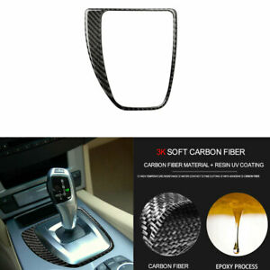 Real Carbon Fiber Console Gear Shift Panel Cover for BMW 5 Series E60 2004-2010