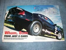 "2002 Ford Mustang GT Drag Car Article ""Wham, Bam from Just 2 Cams"" Turbo Powered"