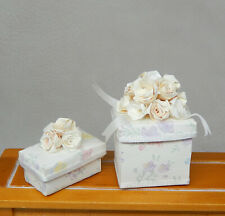 Vintage Wedding Hat & Shoe Box Artisan Dollhouse Miniature 1:12