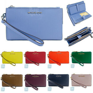 Michael Kors Jet Set Travel Large Double Zip Wristlet Wallet