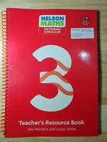 NEW Nelson Maths : Victorian Curriculum - Teacher Resource Book 3 + USB By Yale