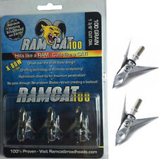 Original Pack 100gr Broadheads 3 Blades Archery Arrow Tip Points Bow Hunting