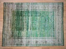 "9'12'3"" Hand Knotted Sari Silk With Oxidized Wool Heriz Design Rug G40983"