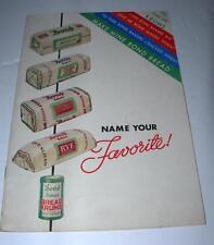 "VINTAGE 1935  BOND BREAD KRUMS  ""NAME YOUR FAVORITE "" COOK BOOK"