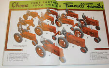 VINTAGE 1940 FARMALL TRACTOR & ACCESSORY CATALOG! SPECS/ENGINES/GREAT CENTERFOLD