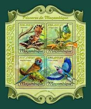 More details for mozambique birds on stamps 2018 mnh hoopoes rollers sunbirds bird 4v m/s