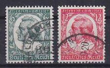 DR Mi Nr. 554 - 555, gest., 175. Geburtstag Schiller Dt Reich 1934, used