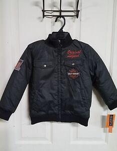 #233 NEW Harley-Davidson boys black bomber jacket, size 6