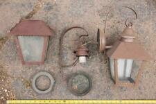 Vintage Pair Metal Wall Sconce Lamp Haunted House Mansion g25