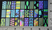 "Coatings by Sandberg Dichroic Glass 30 Sampler 15 Blk & 15 Clear 1/2""x 1"" 90 COE"