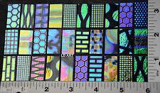 "Coatings by Sandberg Dichroic Glass 30 Sampler 15 Blk & 15 Clear 1/2""x 1"" 90 Coe"