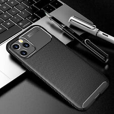 For iPhone 12 11 Pro Max XR XS Case Ultra Slim Carbon Fiber Shockproof TPU Cover