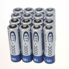 16 Pcs AA 3000mAh 1.2 V Ni-MH rechargeable  BTY battery cell for  Camera MP3 RC