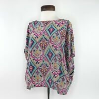 Lilly Pulitzer Silk Cold Shoulder Top Shirt  |  Womens Small