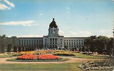 BR50428 The legislative building with its arnate flower bords in     Canada
