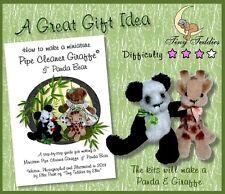 DETERGENTE PER PIPA Craft BOOK COME FARE GIRAFFA in miniatura e Panda da Tiny Teddies