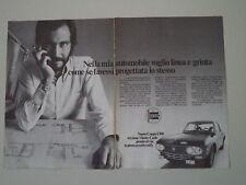 advertising Pubblicità 1972 LANCIA FULVIA COUPE' 1300 MONTECARLO