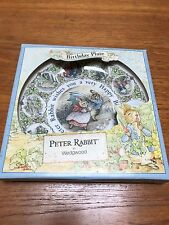 Vintage Happy Birthday Peter Rabbit wedgewood china plate beatrix potter box