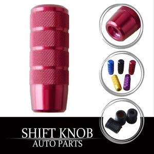 Aluminum Red Racing Car Gear Shift Knob Shifter Lever Head Universal AM