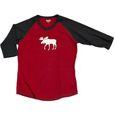 LazyOne Womens Moose Fair Isle PJ Tall T Shirt Adult Small TLS269S