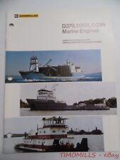 1981 Caterpillar D379 D398 D399 Marine Industrial Brochure Vintage Original VG