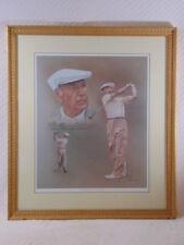 Collectible Limited Edition Litho of Legendary Golfer Ben Hogan by M. Modak