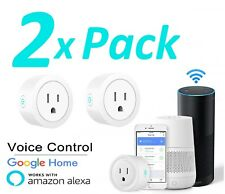 2X Wifi Smart Plug Remote Control Outlet Socket Works with Alexa & Google Home