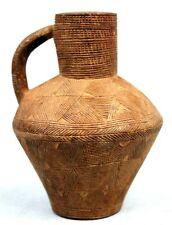 Art African African - Pot Ornamental Wooden Baoulé Sculpture Extra - 11,5 CMS